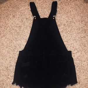 American Eagle Outfitters Shorts - American Eagle Black Short Overalls (Distressed)